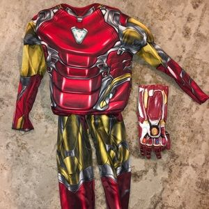 Ironman costume M (6/7) bonus Ironman glove toy